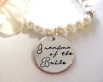 Grandma of the Bride, Grandma Wedding Jewelry, Grandma of the Bride Jewelry, Grandma of the Bride Bracelet