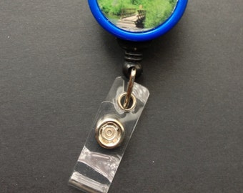 Bridge to Maroon Bells badge reel -- show your love of nature while wearing your ID