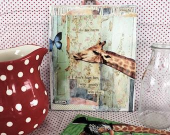 Do No Harm - Giraffe Collage 8 x 10