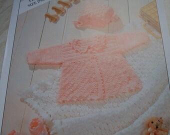 baby crochet matinee set