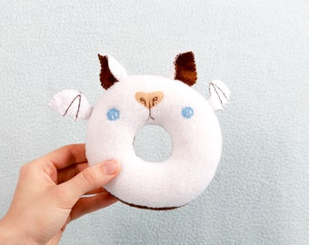 Batti Donut handmade plush toy cuddly toy