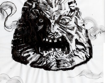 "Inktober Day 22 ""Zardoz"" Original Art"