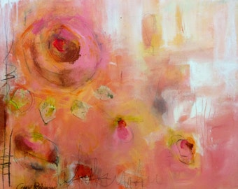 20x16 Abstract Painting of Flower