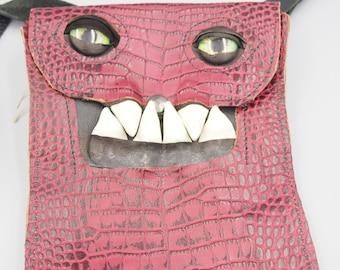 Burgundy Flat Monster Bag MC01