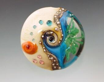 FRISKEY handmade Lampwork Glass Beads, Beach Comber Focal