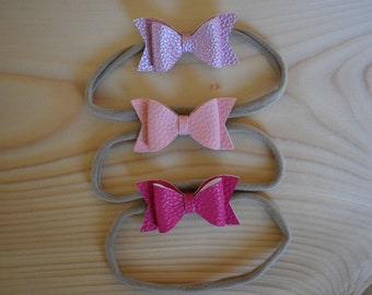 Small Classic Bow, Faux Leather and Glitter