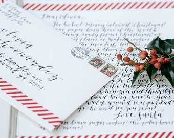 Handwritten Personalized Letter from Santa