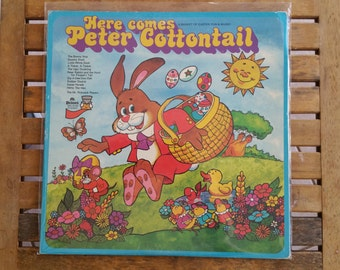 """Various – Here Comes Peter Cottontail - 12"""" LP"""