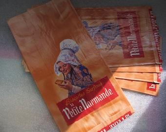 5 original French Boulangeries bags
