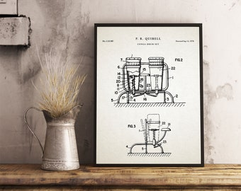 Drum blueprint etsy conga drum patent print musician gift percussion music decor music room wall malvernweather Images