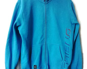 Vintage 90s Sweatshirt O Neill Sweatshirt Blue Zipo Up VINTAGE ONEILL SWEATSHIRT Size L
