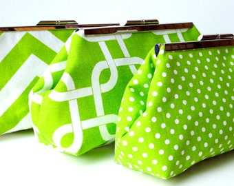 Green Bridesmaid Clutch Set