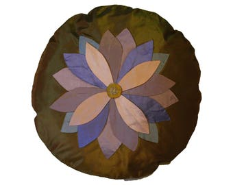 Colorful  Round Flower Cushion Cover