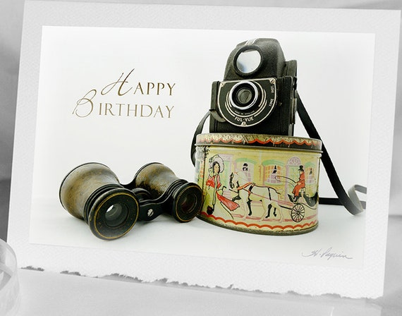 Photo greeting birthday card for photographer notecard 1940 bookmarktalkfo Image collections