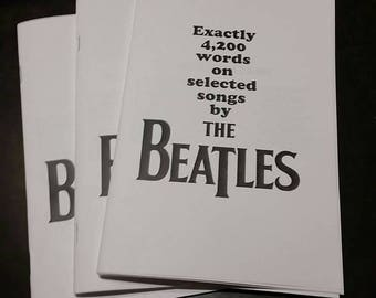 Exactly 4,200 words on selected songs by the Beatles