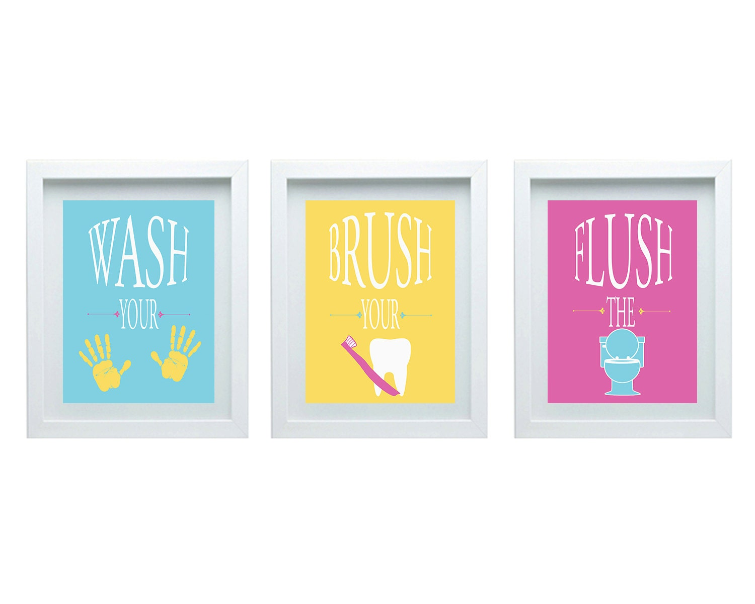 Bathroom Rules Boys or Girls Bathroom Wall Art Girl or Boy