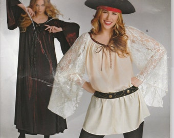 Pirate Tunic Costume Pattern Angel Dress Sleeves Easy Costume Uncut Misses Size 8 - 18 Simplicity 322 S0322