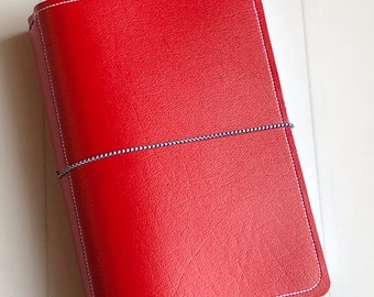 Traveler's Notebook - Red with white and houndstooth