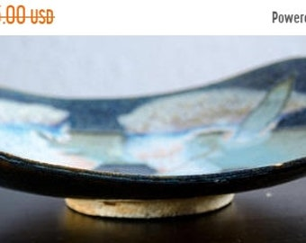 ON SALE Vintage Abstract Multicolored Studio Pottery Plate