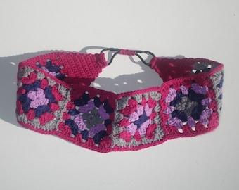 Womens Crochet Headband, Cotton Headband, Girls Headband, Hippie Headband, Boho Headband, Hippie Gift, Hippie Accessories, Mothers Day Gift