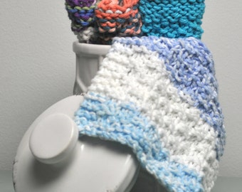 Knit Dishcloth, Facecloth or Washcloth - many colours available