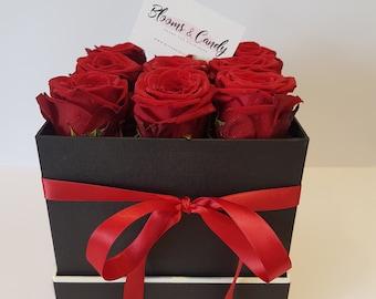 Fresh Red Rose Box