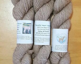 Fine Alpaca Yarn in Medium Fawn from Joshua and Friends
