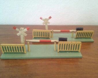 Level crossing, barrier sheet metal toys