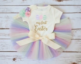 "My first Easter outfit ""Emmeline"" first Easter baby girl, first Easter outfit girl, my first Easter girl, baby girl Easter outfit, tutu set"