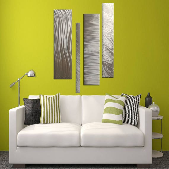Natural Silver Modern Metal Wall Accent Multipanel Wall