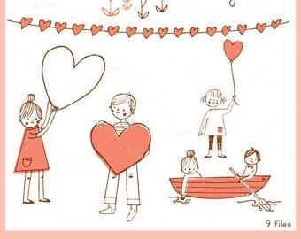 Lovely Love CLIP ART Set