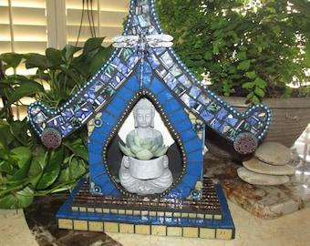 Mosaic Spirit House. Bird House