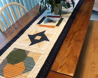 Quilted Table Island or Bed Runner Wedding Shower Housewarming Gift