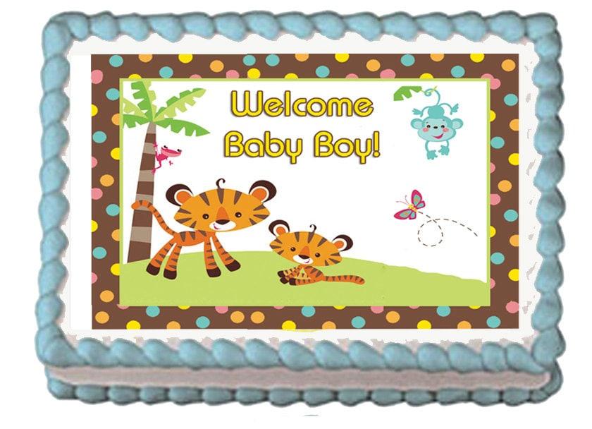 Fisher Price Party Baby Safari Shower Jungle FisherPrice Jungle Baby ...