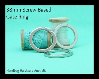 38mm Screw Based Gate Rings - Silver - Handbag Hardware Australia