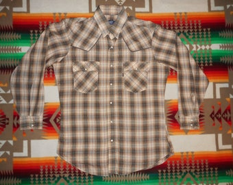 Levis Pearl Snap Western Plaid Shirt Size Large