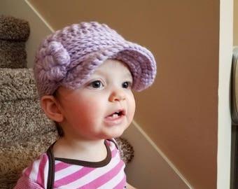 Glori-Jam Newsboy Style Crochet Hat