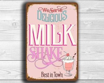 MILKSHAKE SIGN, Milkshake Signs,Vintage style Milkshake Sign,Milkshake Diner Sign, Restaurant Sign,Diner Sign Milkshake sign, MILKSHAKE Sign