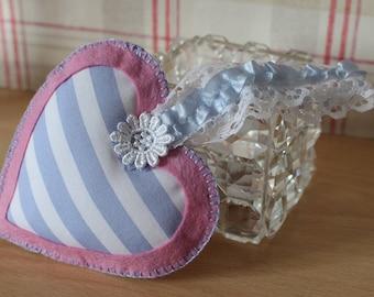 Handmade Felt Heart, Hanging Heart Decoration