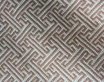Greek Key Fabric- Valdese Weavers Thatcher in Mineral