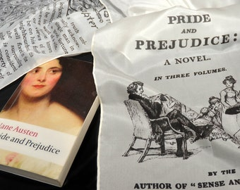 Silk Scarf, Pride and Prejudice by Jane Austen Silk Scarf