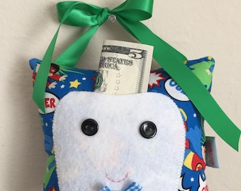 Tooth Fairy Pillow / Lost tooth / Kids / Prize