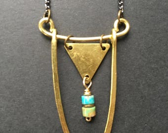 Turquoise Love Boat Necklace