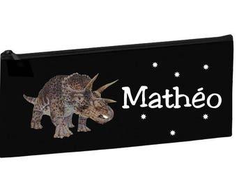 Kit school black dinosaur personalised with name