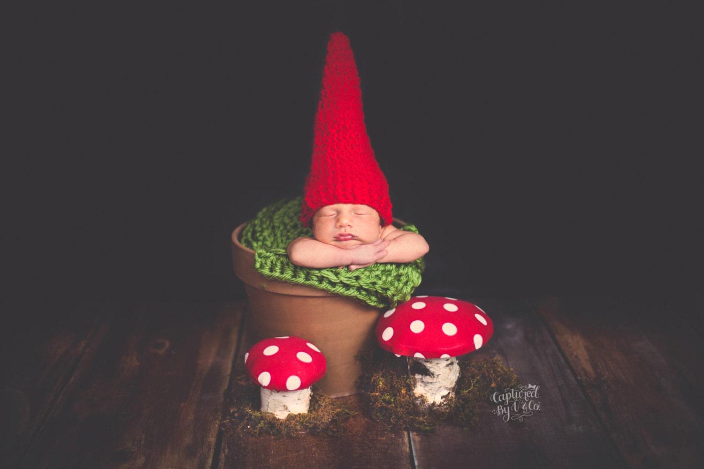 Baby Gnome: Baby Hat Newborn Hat Baby Gnome Hat Newborn Gnome Hat Baby