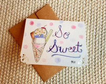 Sweet ice cream Card
