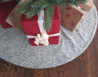 Light blue Christmas Tree skirt - 54""