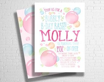 Bubble birthday invitation bubbles invite bubble party rainbow bubble birthday invitation bubbles birthday invite bubble party invitation blowing bubbles birthday invite digital file only filmwisefo
