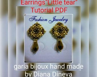"""Earrings """"Little Tear"""" PDF photo tutorial"""