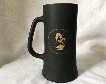 Vintage Playboy Black Glass Mug